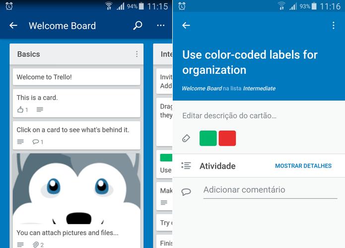 Android conta com app gratuito do Trello (Foto: Reprodução/Filipe Garrett)