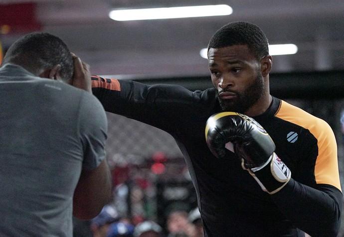 Tyron Woodley, treino aberto, UFC 214 (Foto: Evelyn Rodrigues)