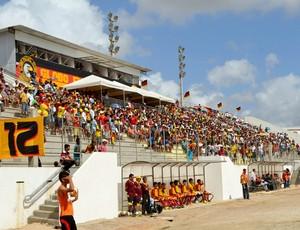 Barretão recebeu 2.321 torcedores para Globo FC e Baraúnas (Foto: Jocaff Souza)