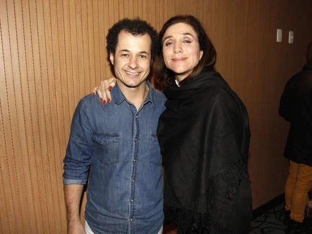 Marisa Orth e o marido em show em São Paulo (Foto: Celso Tavares/ EGO)