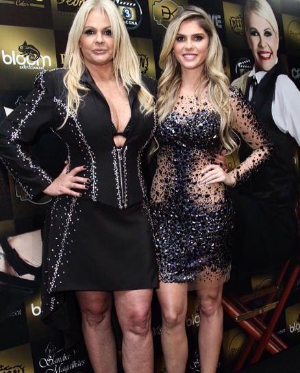 Monique e Bárbara Evans (Foto: Reprodução)