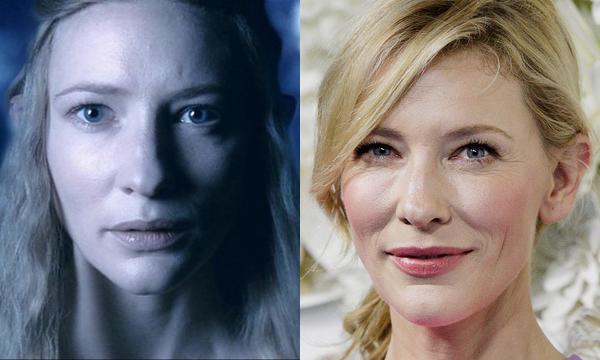 Cate Blanchett como Galadriel e atualmente (Foto: Divulgao)