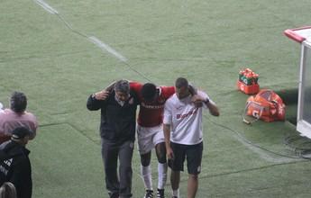 Eduardo sofre entorse no tornozelo e desfalca Inter por até três semanas