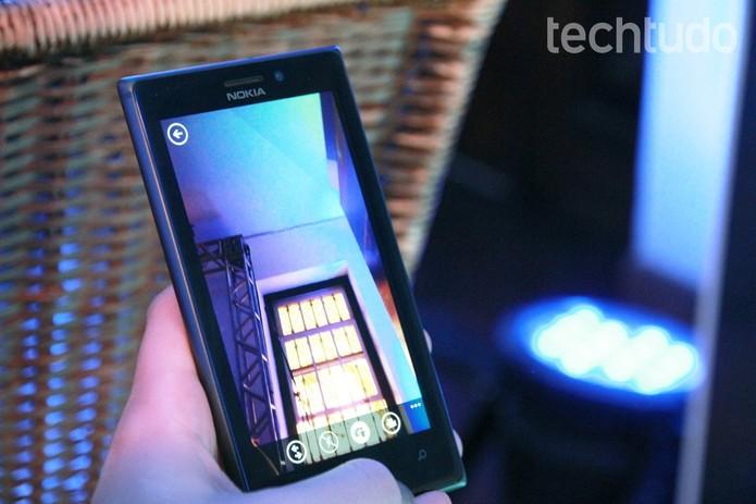 Lumia McLaren seria capaz de reconhecer gestos feitos no ar pelo usuário (Foto: Luciana Maline/TechTudo)