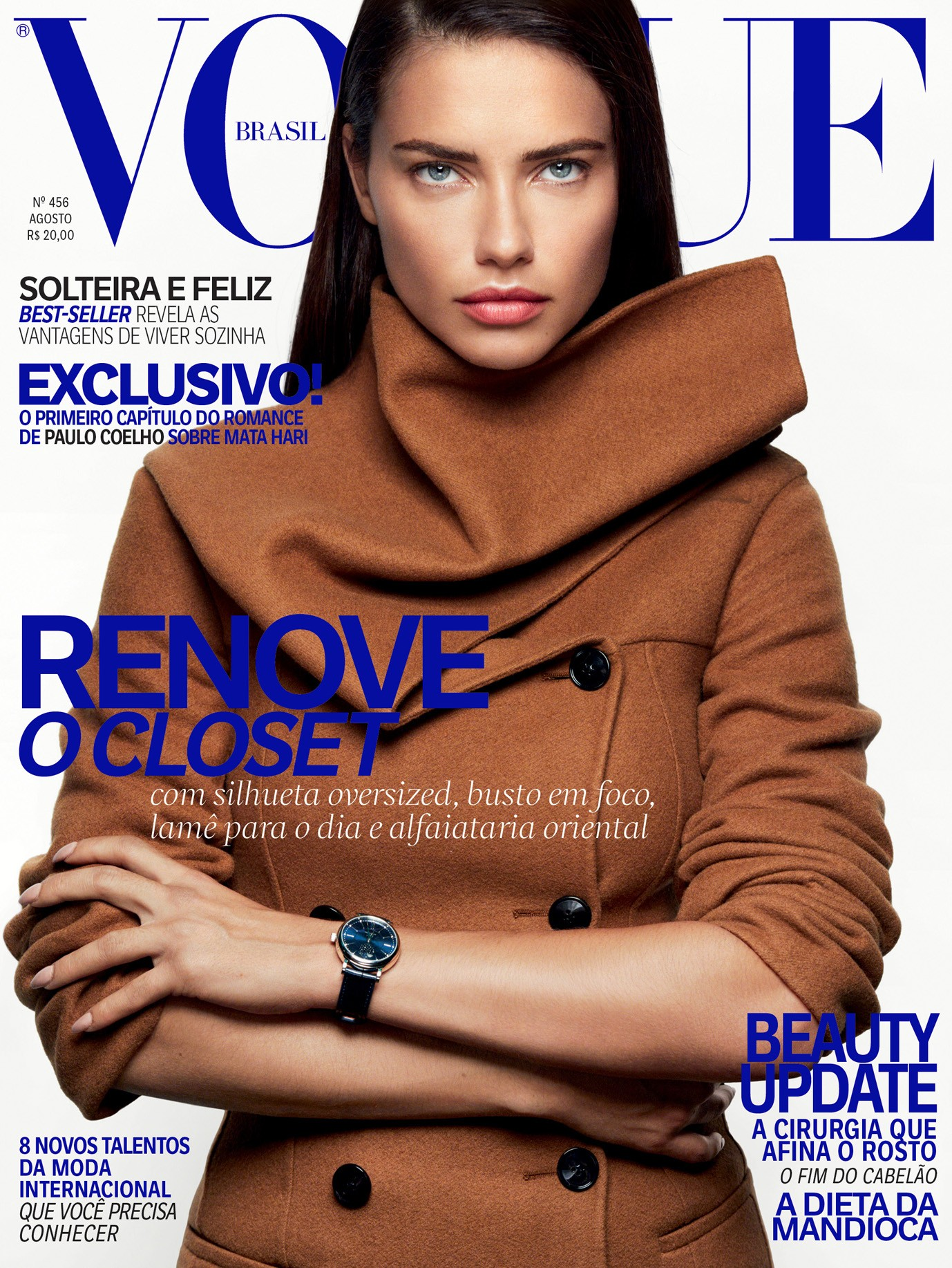 Adriana Lima na Vogue de agosto (Foto: Reprodução/Vogue Brasil)