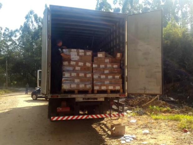 Caminhões foram localizados pela Guarda Municipal de Jundiaí (Foto: GM de Jundiaí/Divulgação)