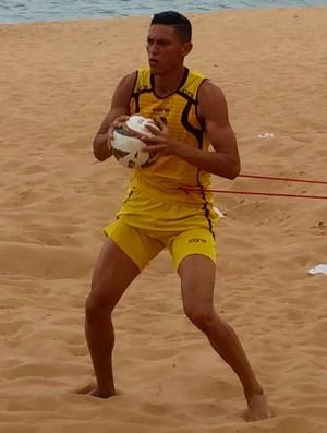 Harrison, goleiro do Rio Branco-ES (Foto: Sidney Magno Novo/GloboEsporte.com)