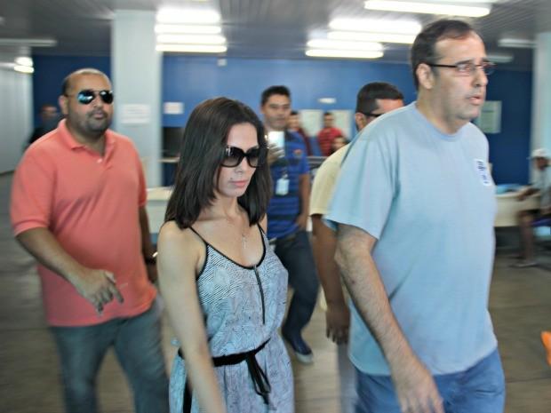 Marcelaine estava presa na DEHS, na Zona Norte da capital (Foto: Sérgio Rodrigues/G1 AM)
