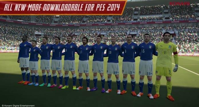 Jogadores da Itália com a nova camisa (Foto: Divulgação)