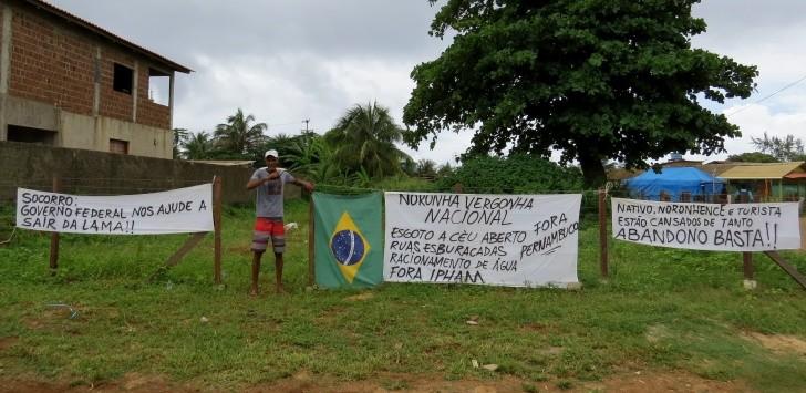 Protesto Fernando de Noronha