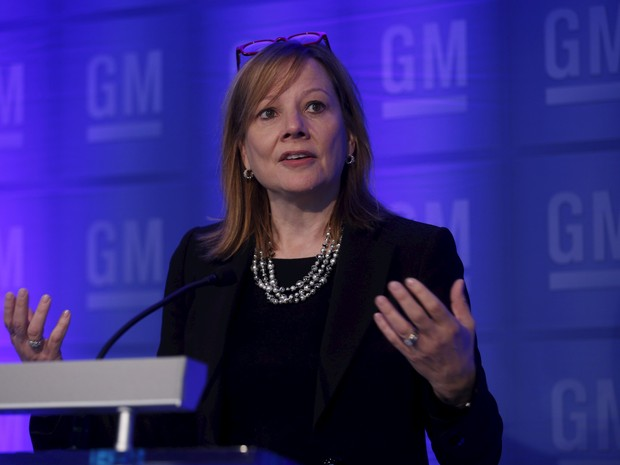 Marry Barra, CEO da GM, concedeu entrevista nesta terça-feira (9), em Detroit, EUA (Foto: Rebecca Cook / Reuters)