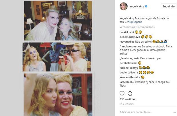 Angélica lamenta morte de Rogéria (Foto: Reprodução/Instagram)