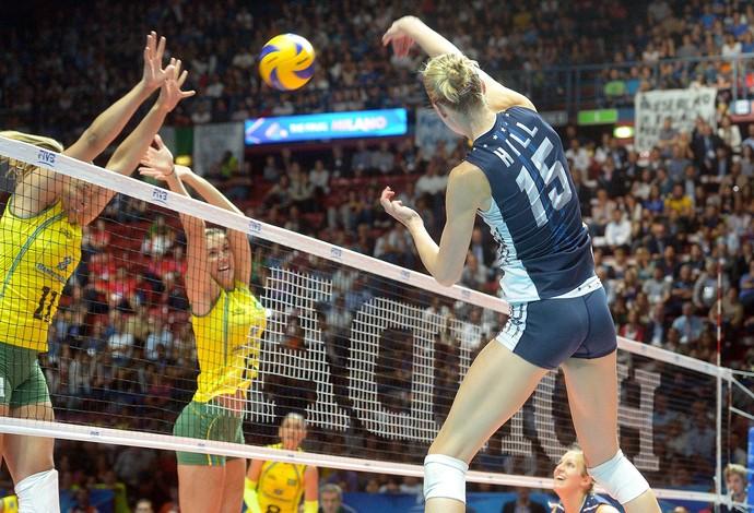 Brasil x EUA, Mundial de Vôlei (Foto: Divulgação / FIVB)