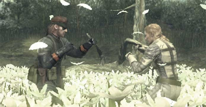Snake e Boss se despedem em luta emocionante (Foto: Divulgação/Konami)