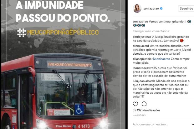 Sônia Abrão faz post após novo abuso sexual de Diego Novais (Foto: Reprodução/Instagram)