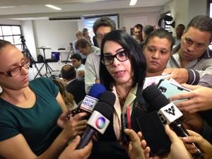 Marcia Rosa falou sobre o possível fechamento da Usiminas (Foto: Orion Pires/G1)