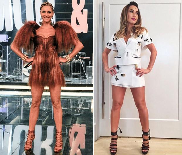 Fernanda Lima e Sabrina Sato apostam em roupas incrveis para apresentar seus programas  (Foto: Divulgao/TV Globo e Instagram)