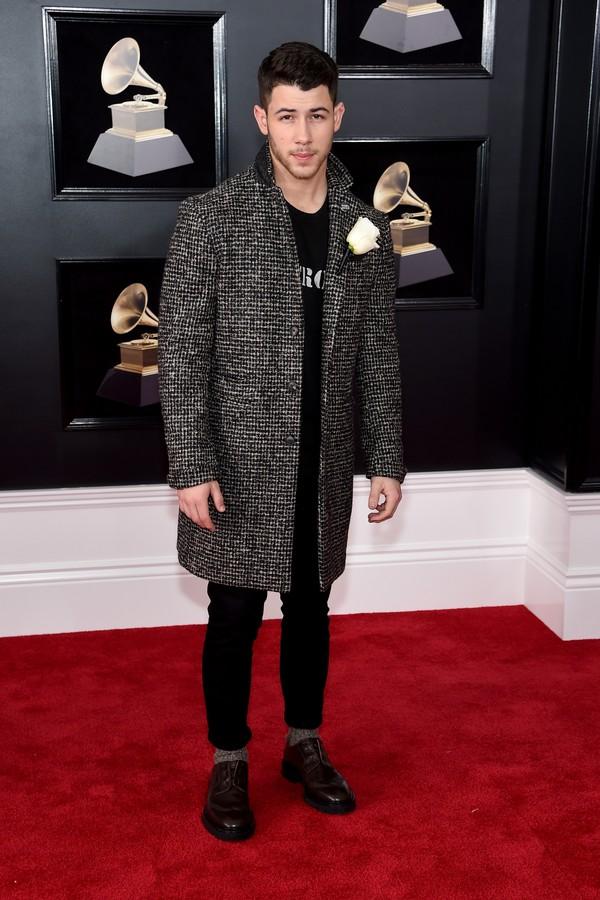 Nick Jonas no Grammy 2018 (Foto: getty images)
