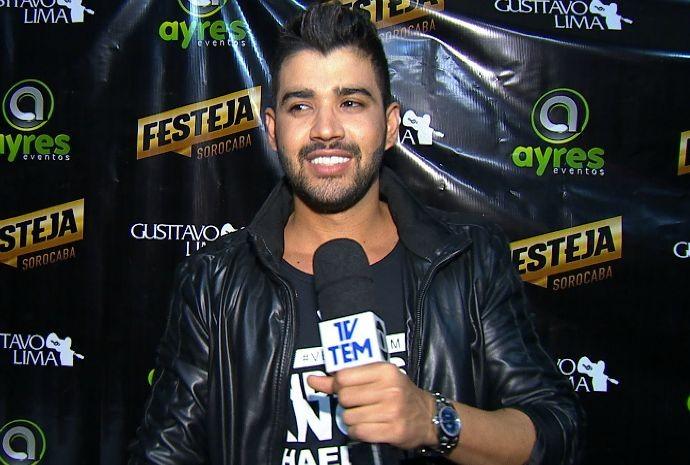 O cantor Gusttavo Lima fala da sua paixão por cavalos (Foto: Reprodução/TV TEM)