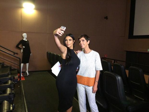 Kim Kardashian e Lilian Pacce (Foto: Divulgao/GNT)