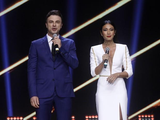 Cássio Reis e Dani Suzuki no Miss Brasil em São Paulo (Foto: Celso Tavares/ EGO)