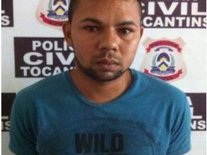 Jovem foi preso com objetos furtados de autoescola em Augustinópolis (Foto: Divulgação/SSP TO)