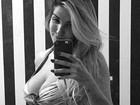 Aline Gotschalg mostra corpo perfeito quase 5 meses após dar à luz