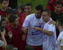 André Santos reedita trio do Timão  em jogo beneficente com 20 gols