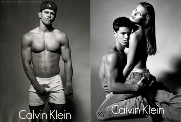 Mark Wahlberg em suas icônicas fotos para a Calvin Klein. (Foto: Divulgação)