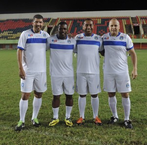 Djair, Beto, Bujica e Válber se reencontram em jogo master no Acre (Foto: Reprodução/Facebook)