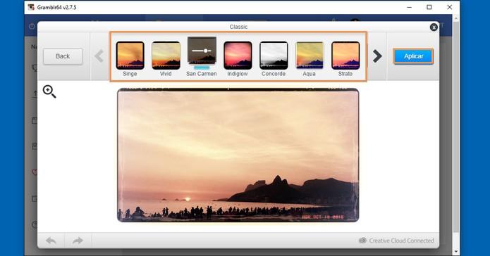 Selecione o filtro que preferir e aplique na imagem pelo PC (Foto: Reprodução/Barbara Mannara) (Foto: Selecione o filtro que preferir e aplique na imagem pelo PC (Foto: Reprodução/Barbara Mannara))