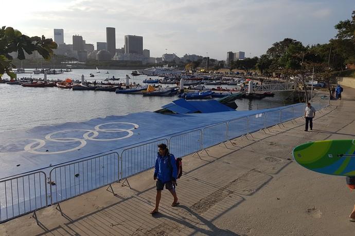 Rampa danificada na Marina da Glória vela (Foto: GloboEsporte.com)