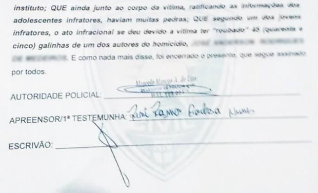 Em depoimento, PM relata a motivação para a morte do garoto João Victor (Foto: Reprodução/G1)