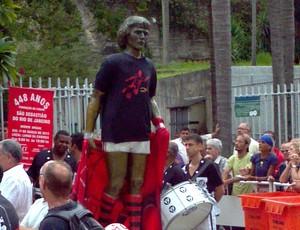 Comemoracao.do aniversário do rio, zico homenageado, na carioca (Foto: Thiago Dias)