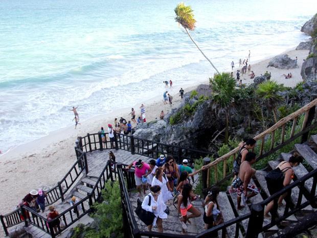 Praia em Tulum, no México (Foto: Manuel Valdes/AP Photo)