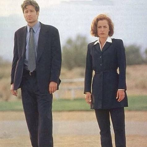 David Duchovny e Gillian Anderson (Foto: Reprodução)
