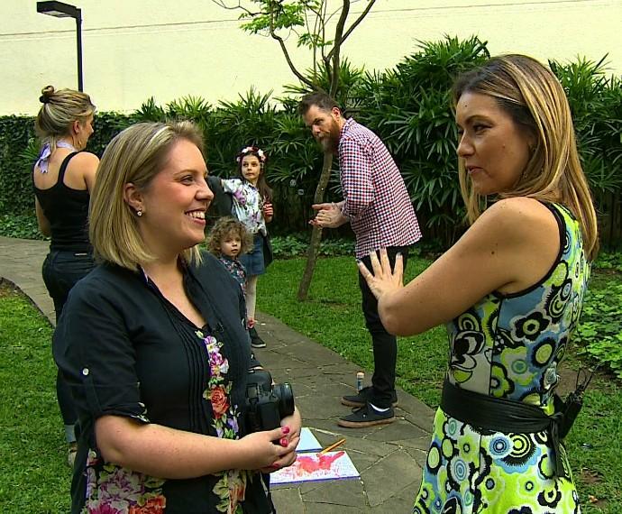 Giselle Sauer fotografa Mistura com Rodaika o papai é pop Piangers (Foto: Reprodução/RBS TV)