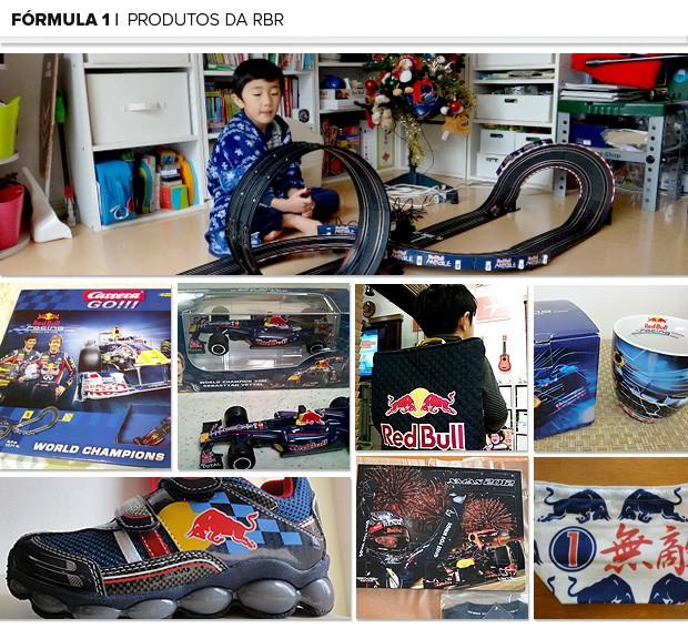 Mosaico Kotta criança produtos RBR (Foto: Editoria de Arte)