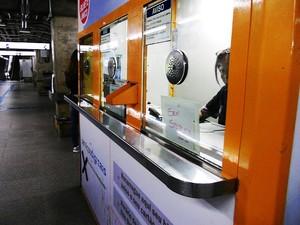 Problema com recarga do Bilhete Único na Estação Saúde, na quarta-feira (21). (Foto: Eduardo Andreassi/VC no G1)
