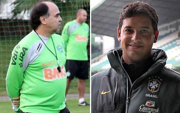 Marcelo Oliveira e Marquinhos Santos, Coritiba (Foto: Editoria de Arte / Globoesporte.com)