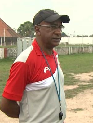 José Araújo, o Zezito, técnico do Rio Branco-AC (Foto: Reprodução/TV Acre)