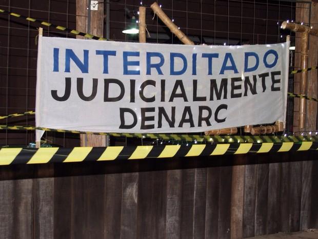 Bar foi interditado durante Operação  Coffee Shop (Foto: Divulgação/Denarc)
