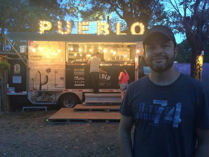 Eduardo Hintz Mallmann, proprietário das três operações do Pueblo, em Porto Alegre  (Foto: Aline Cornely / Gshow)