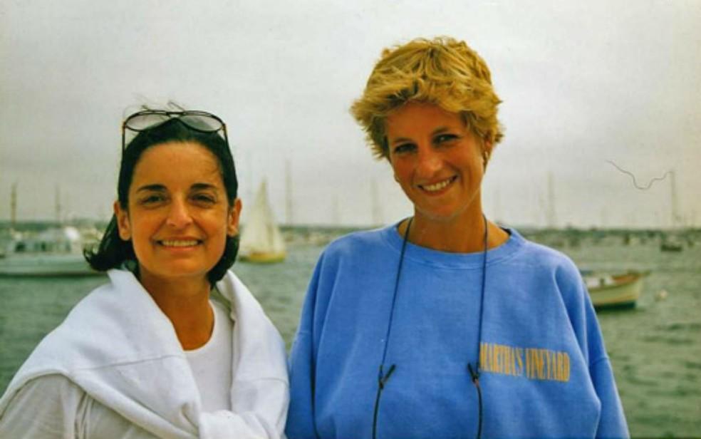 A embaixatriz Lúcia Flecha de Lima e a princesa Diana foram amigas na década de 1990 (Foto: Reprodução)