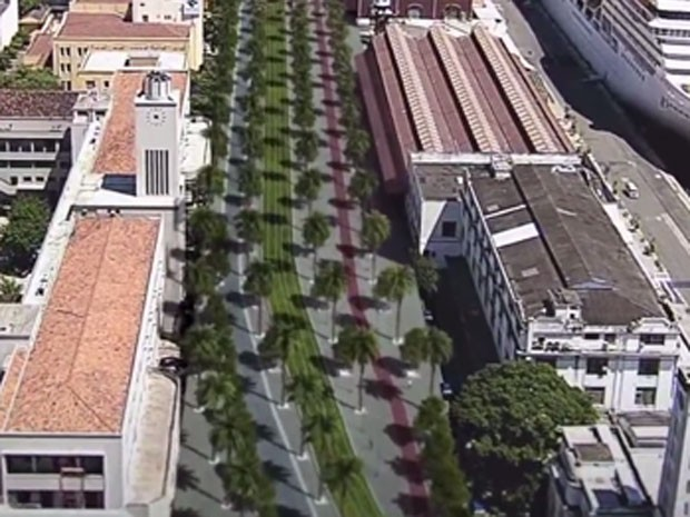 Animação do Porto Maravilha mostra como ficará o boulevard (Foto: Reprodução / Porto Maravilha)