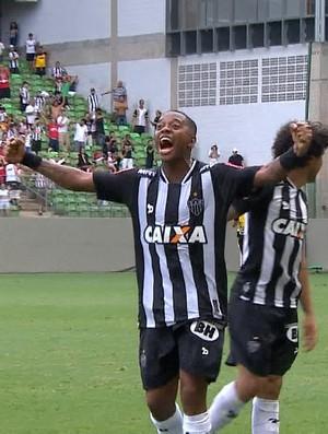 Robinho comemora gol pelo Atlético-MG (Foto: Reprodução/ TV Globo Minas)