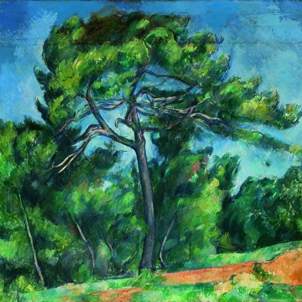 """""""O Grande Pinheiro"""", do pintor Paul Cézanne, que integra a nova mostra de acervo do Museu de Arte de São Paulo (MASP) (Foto: Divulgação)"""