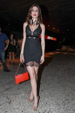Luciana Gimenez em festa em São Paulo (Foto: Raphael Castello/ Ag. News)