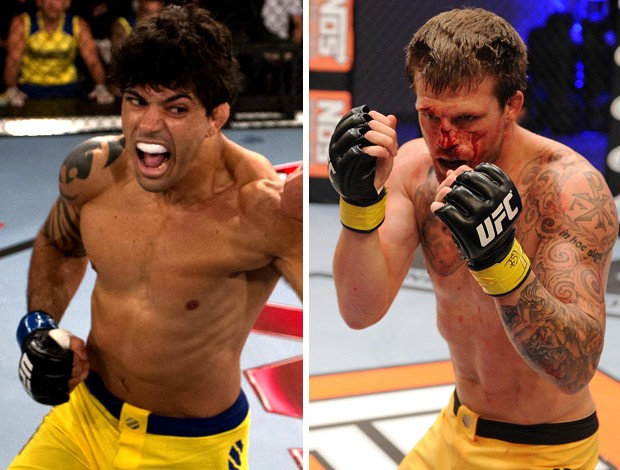 MONTAGEM MMA Viscardi Andrade x Bristol Marunde (Foto: Editoria de arte)