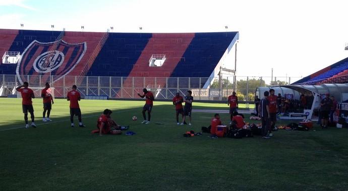 Atlético-PR, treino, Argentina (Foto: Janaína Castilho)